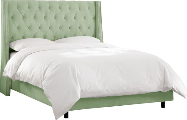 Garonne Green Queen Bed