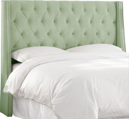 Garonne Green Twin Upholstered Headboard