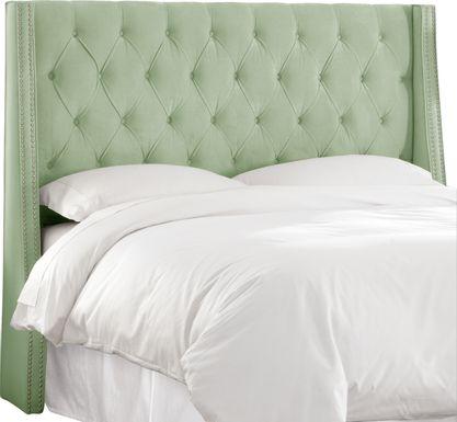 Garonne Green Queen Upholstered Headboard