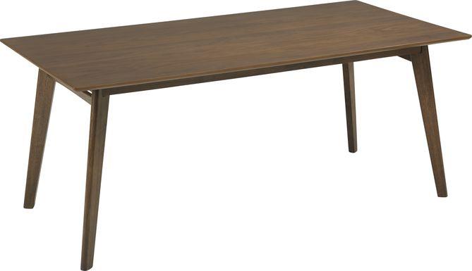 Genaro Brown Rectangle Dining Table