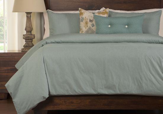 Genting Blue 6 Pc Queen Duvet Set