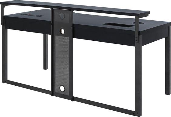 Geordi Black Gaming Desk
