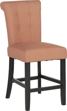 Georgiana Orange Counter Height Stool
