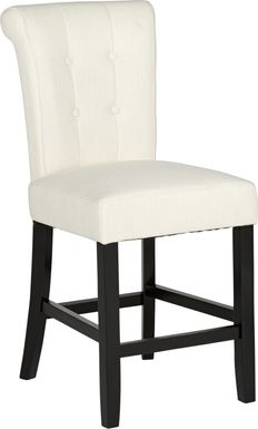 Georgiana White Counter Height Stool