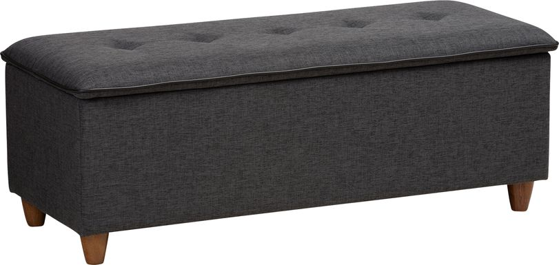 Gioni Dark Gray Storage Ottoman