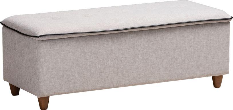 Gioni Gray Storage Ottoman