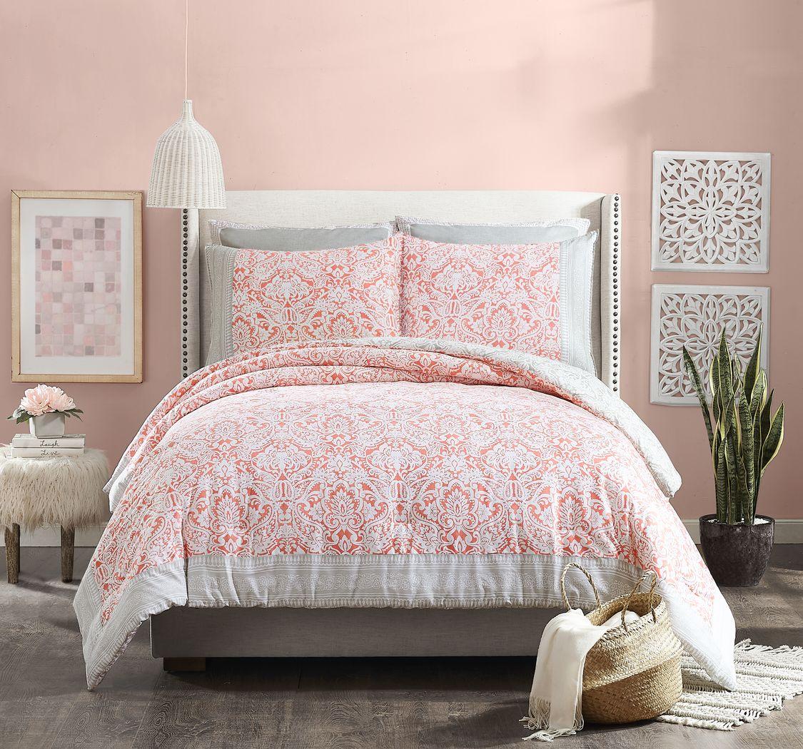 Gisa Orange 3 Pc Full/Queen Comforter Set