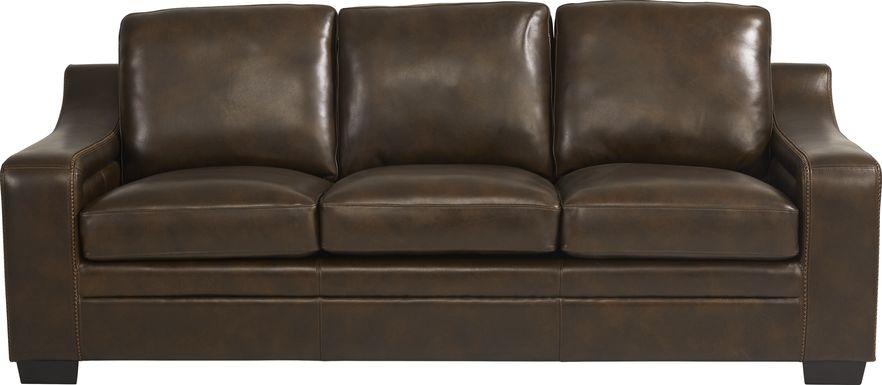 Gisella Brown Leather Sofa