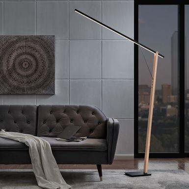 Glacier Cove Wood Floor Lamp