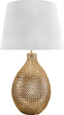 Gladiola Gold Lamp