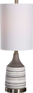 Gladiola Lane Gray Lamp
