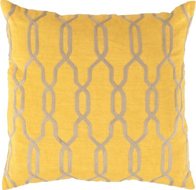 Glam Geo Saffron Accent Pillow