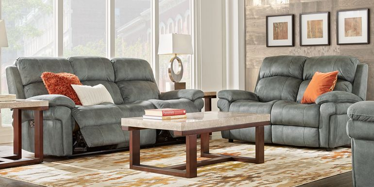 Glendale Place Charcoal 3 Pc Living Room with Reclining Sofa