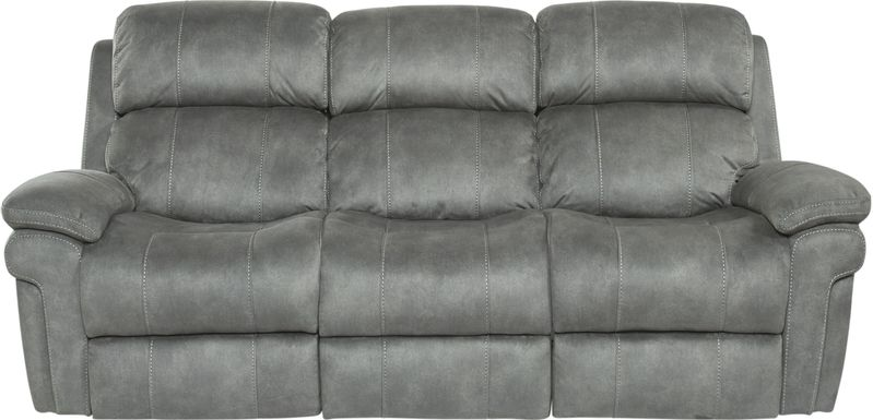 Glendale Place Charcoal Dual Power Reclining Sofa
