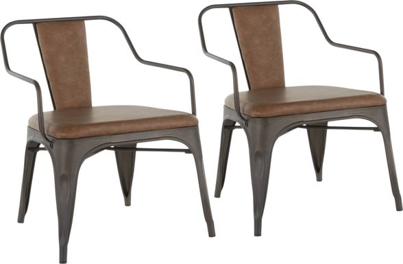 Glenfern Espresso Accent Chair, Set of 2