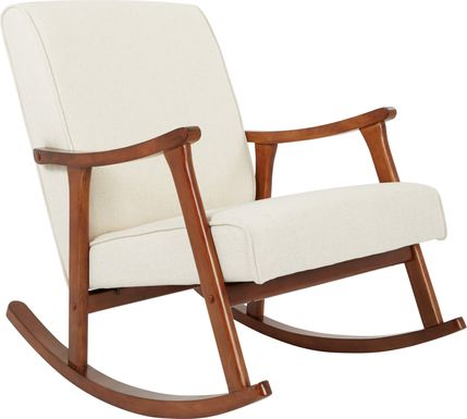 Glengyle White Dark Wood Rocker