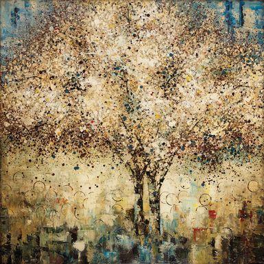 Glistening Tree Brown Artwork