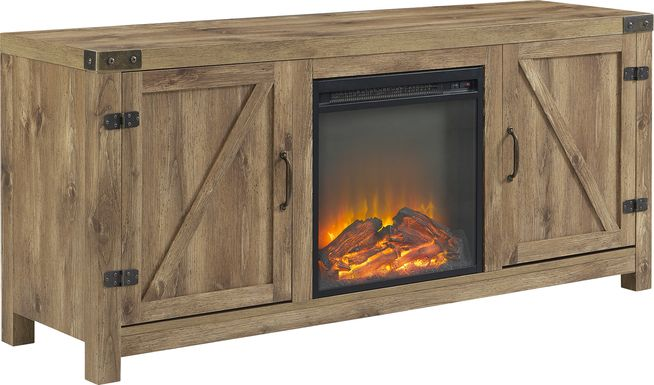 Gloxina Brown 58 in. Console, With Electric Fireplace