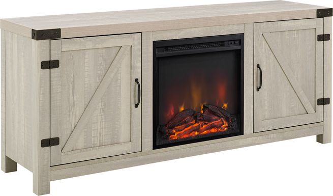 Gloxina Stone 58 in. Console, With Electric Fireplace