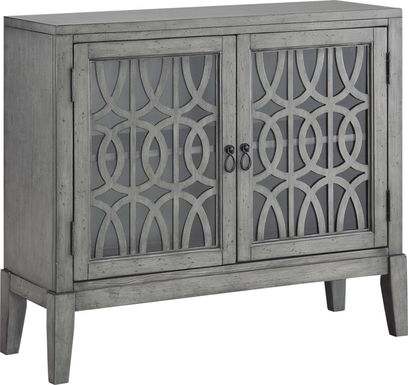 Godric Pointe Gray Accent Cabinet