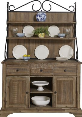 Golden Grove Dark Brown 2 Pc Buffet with Hutch
