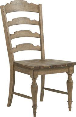 Golden Grove Dark Brown Ladder Back Side Chair