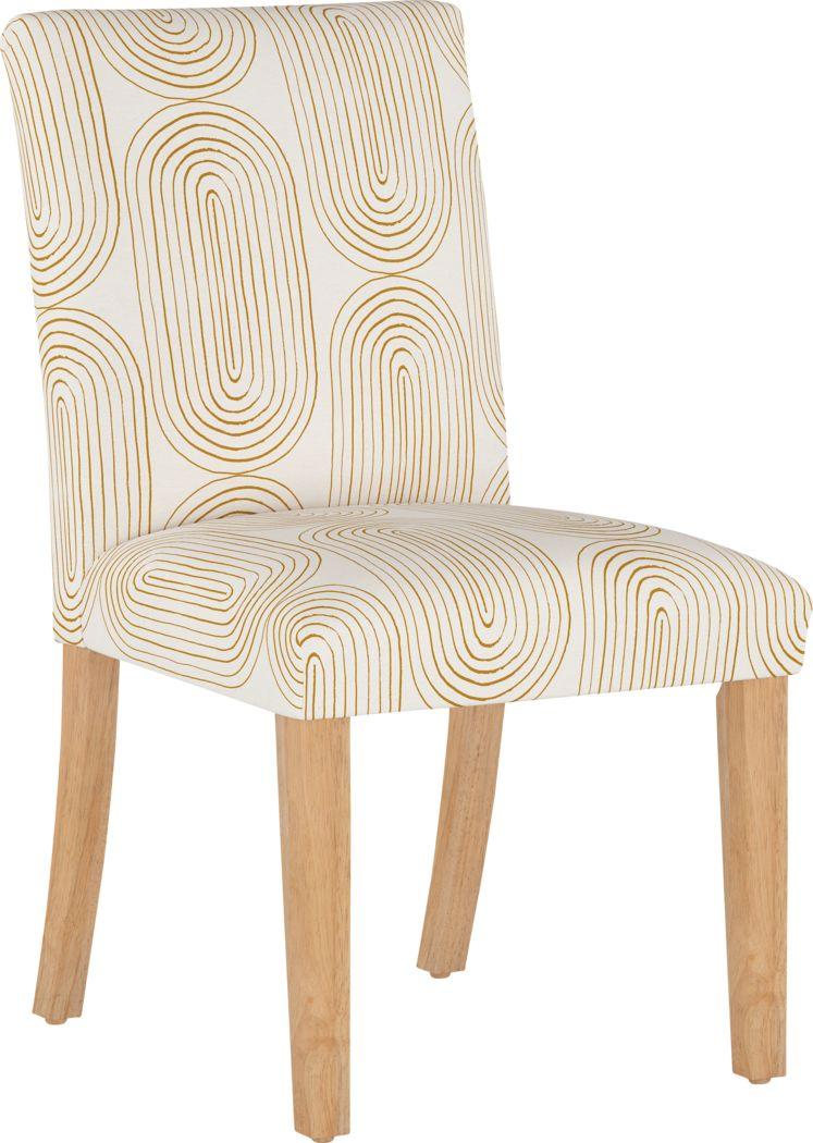 Golden Rust White Side Chair