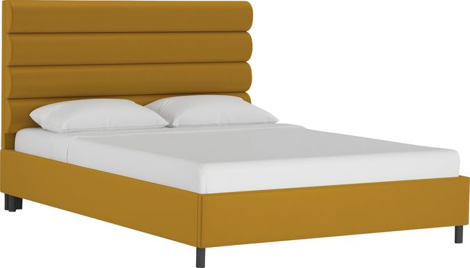 Kids Golden Rust Dijon Twin Upholstered Bed