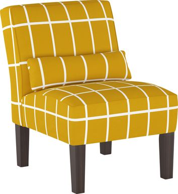 Golden Rust Yellow Accent Chair