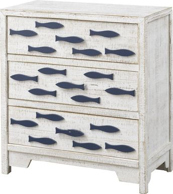 Graefield White Accent Cabinet