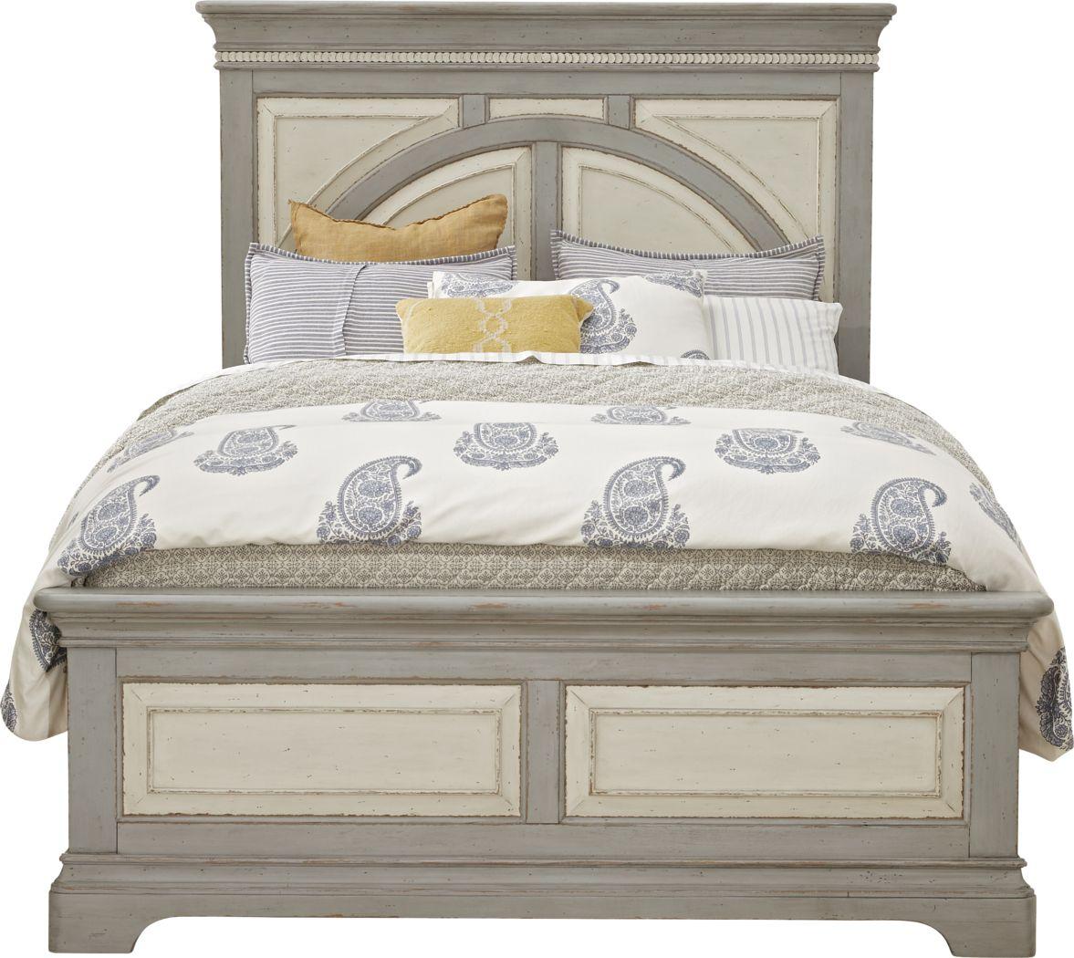 Granbury Gray 3 Pc King Panel Bed