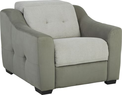Grande Point Gray Dual Power Recliner
