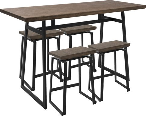 Grannis Brown Counter Height Table Set