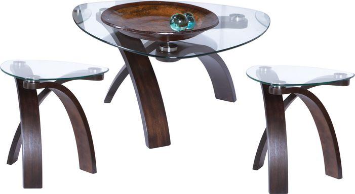 Grant City Merlot 3 Pc Table Set