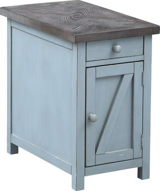 Grantland Blue Chairside Cabinet