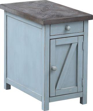Grantland Blue Chairside Cabinet
