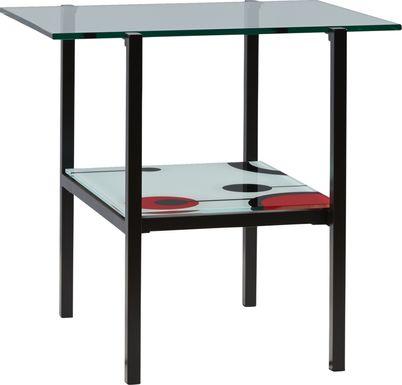Granton Black Accent End Table