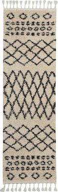 Graphic Patterns Cream 2'2 x 8'1 Runner Rug