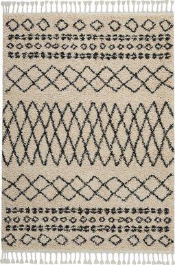 Graphic Patterns Cream 9'2 x 12'6 Rug