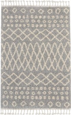 Graphic Patterns Silver 5'3 x 7'11 Rug