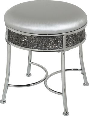 Grayhampton Silver Vanity Stool
