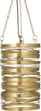 Greenleaf Lane Brass Pendant