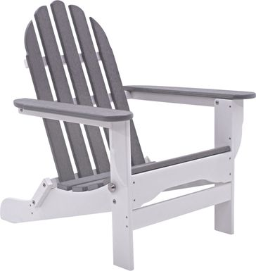 Greenport Natural White and Granite Outdoor Adirondack Chair
