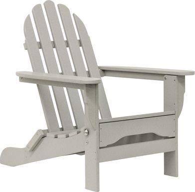 Greenport Traditional Light Gray Outdoor Adirondack Chair