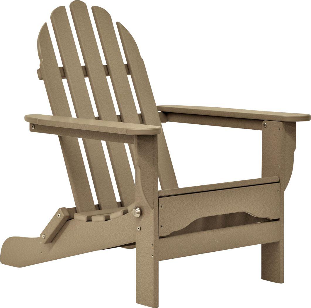 Greenport Traditional Tan Outdoor Adirondack Chair