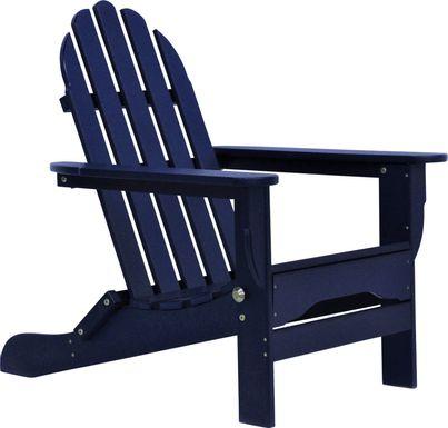 Greenport Vibrant Navy Outdoor Adirondack Chair