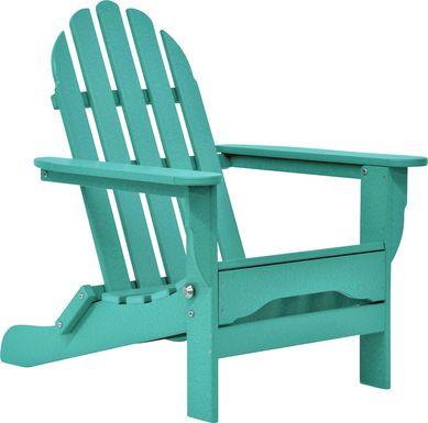 Greenport Vibrant Teal Outdoor Adirondack Chair