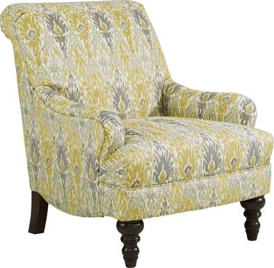 Cindy Crawford Home Greenwich Pointe Maize Accent Chair