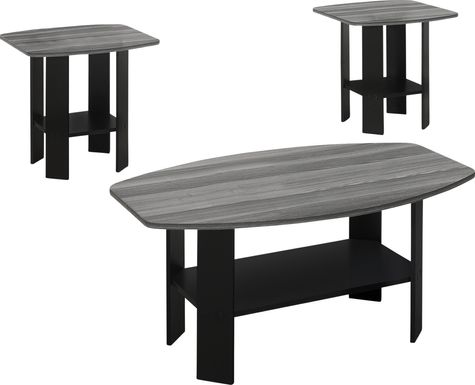 Greylyn Gray 3 Pc Table Set