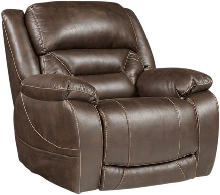 Griffin Valley Walnut Triple Power Recliner